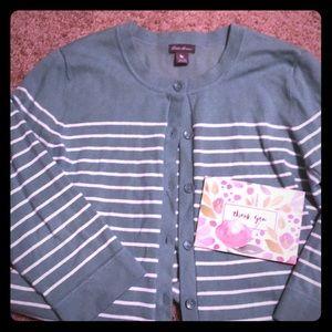 EUC Eddie Bauer 3/4 sleeve cardigan XL